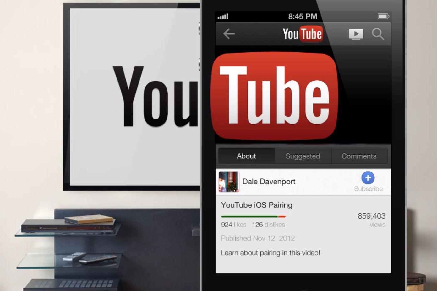 youtube send to tv - L'application YouTube envoie la vidéo directement sur votre téléviseur